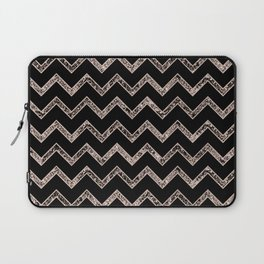 Chevron Glitter Glam #3 #shiny #decor #art #society6 Laptop Sleeve