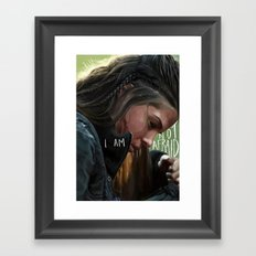 Octavia - The 100 Framed Art Print