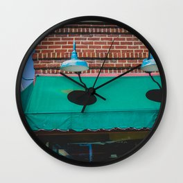 Outdoor Lighting and Awning Short North Arts District Ohio Wall Clock