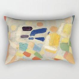 "Robert Delaunay ""Les coureurs (The runners)"" Rectangular Pillow"