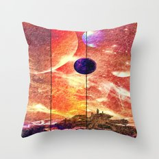 Distant worlds Throw Pillow
