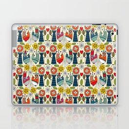 Swedish folksy cats and birds Laptop & iPad Skin