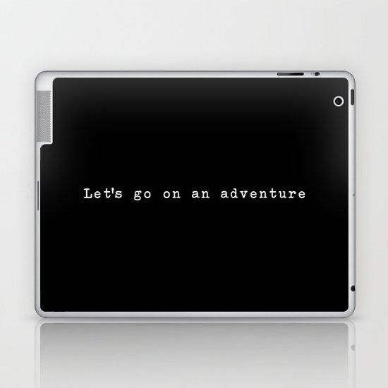 Adventure [Black] Laptop & iPad Skin