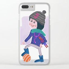 Birthday Girl 3 Clear iPhone Case