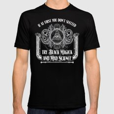 Black Magick and Mad Science Black Mens Fitted Tee X-LARGE