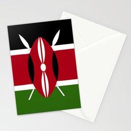 Kenya flag emblem Stationery Cards