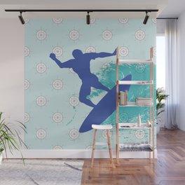 Surf, sea, surfing, marine, sea, summer, blue , nautical Wall Mural