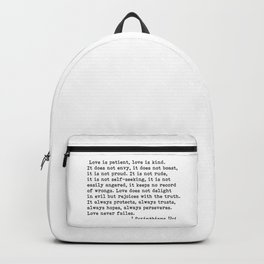 Love is patient... Backpack