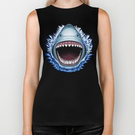 Shark Jaws Attack Biker Tank