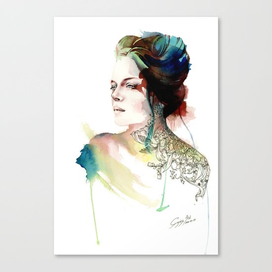blossoming tattoos Canvas Print