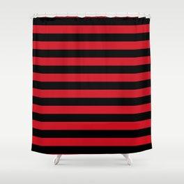 Albania flag stripes Shower Curtain