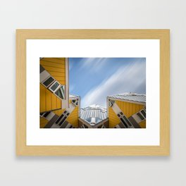Cube houses in Rotterdam Framed Art Print
