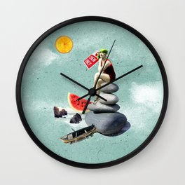 Surrealism. Into the blue Wall Clock