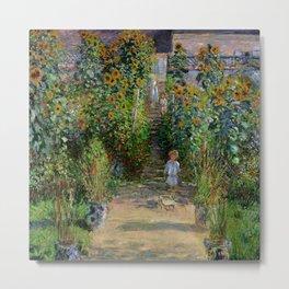 "Claude Monet ""Monet's garden at Vétheuil"", 1880 Metal Print"