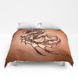 """Tsunami"" by Amber Marine ~ Sea Dragon (Amber Gem Version) ~ Graphite Illustration, (Copyright 2005) Comforters"