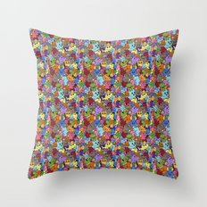 Doodle Mix 1 Throw Pillow