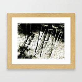 Crutch Framed Art Print