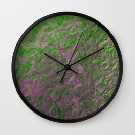 Green Purple Sand Wall Clock