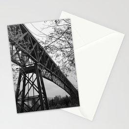 Eiffel. The mystery train bridge. BW Stationery Cards