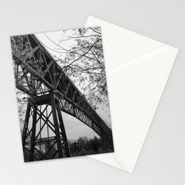 Eiffel. The mystery train bridge. BW Stationery Cards