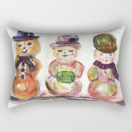 Snowman Family Rectangular Pillow