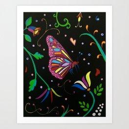Mariposa de noche Art Print