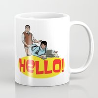 archer Mugs featuring Hello! - Archer by CDW1