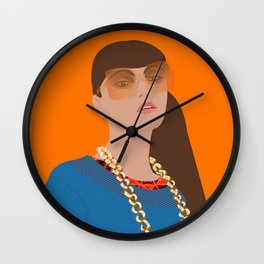 Just Do You Curvy Girl Drawing Wall Clock
