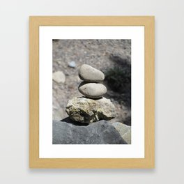 Balance Stacked Rocks Yellowstone National Park Framed Art Print