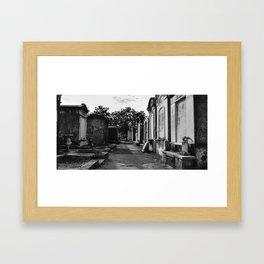 Passage (black and white) Framed Art Print
