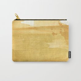 Sandy brown abstract wash painting Carry-All Pouch