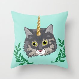 Monty the Unicorn Throw Pillow