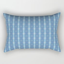 Sky Blue Winter Clouds Vertical Patten Rectangular Pillow