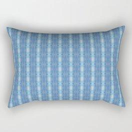 Sky Blue Winter Clouds Vertical Patten Rectangular Pillow
