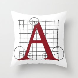 SEBASTIANO SERLIO ALPHABET – A Throw Pillow