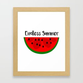 Summer Watermelon Endless Summer Framed Art Print