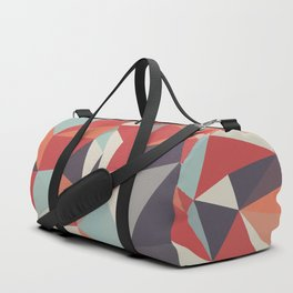 Retro Triangles Fusion Duffle Bag