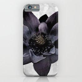 Black Lotus Watercolor Digital Art iPhone Case