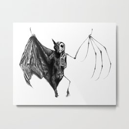 Half The Bat I Used To Be Metal Print
