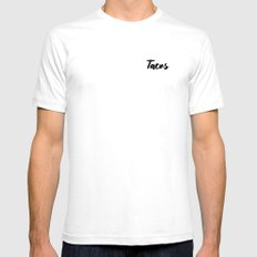 Tacos SMALL Mens Fitted Tee White