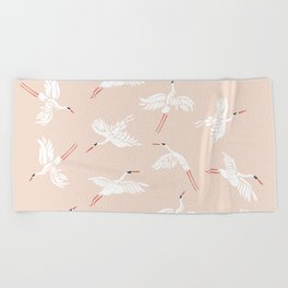 Crane Dance Beach Towel