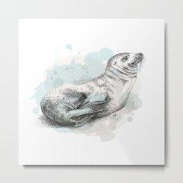 Seal Metal Print