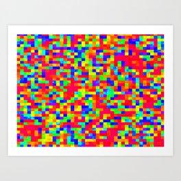 Chromoscope IV ][ Revert Future Raster Art Print