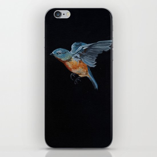 Northern Blue Bird in Flight iPhone & iPod Skin
