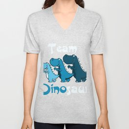 Team Dinosaur (Blues2) Unisex V-Neck
