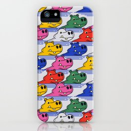Hippos pattern no2 iPhone Case