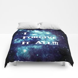 Turquoise Teal Galaxy : I Forgive It All Comforters
