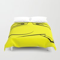smoking Duvet Covers featuring Smoking Pillow by Rainer Steinke