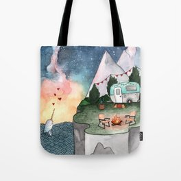 Night Camper Tote Bag