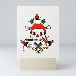 Sailors Beware Mini Art Print